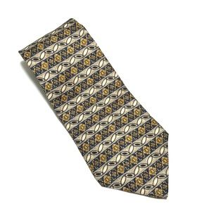 Christian Dior Blue/Gold/Grey Tie -100%silk 58Lx4W